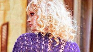 Chal violeta muy elegante