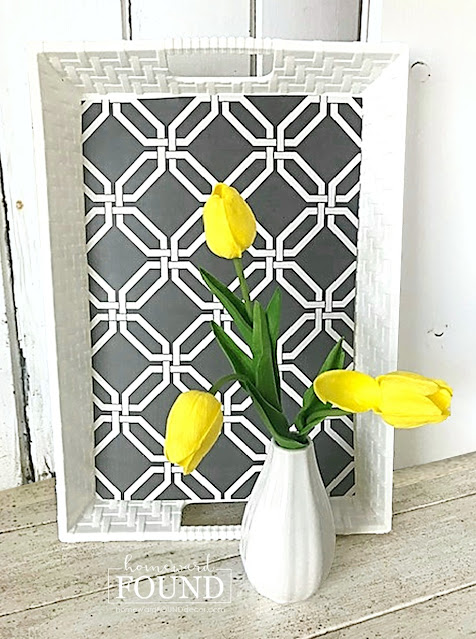 coastal style,colorful home,color palettes,Pantone color of the year,decorating,diy decorating,DIY,dollar store crafts,entertaining,farmhouse style,kitchen,re-purposing,up-cycling,Pantone 2021 Colors of the Year,Illuminating Yellow,Ultimate Gray,yellow and gray palette,home decor,spring home decor,spring, serving tray,placemats,Dollar Tree hacks,serving tray upgrade.