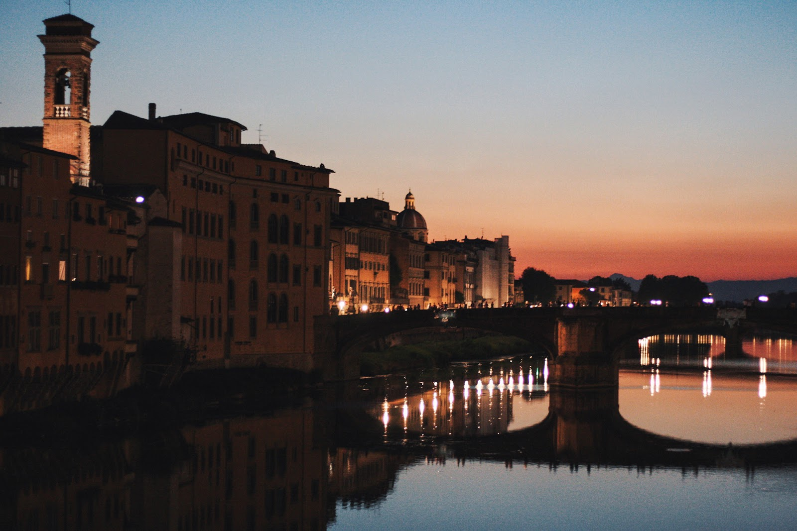 One day in Florence sunset