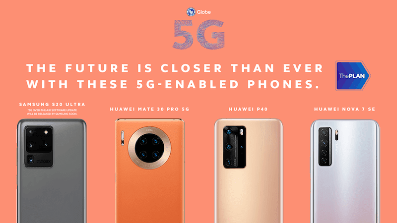 Globe parades their 5G-powered smartphones