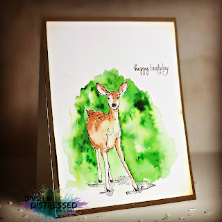 masculine_stamped_deer_Card_ken_oliver_color_burst_crystals_watercolor_clean_and_simple