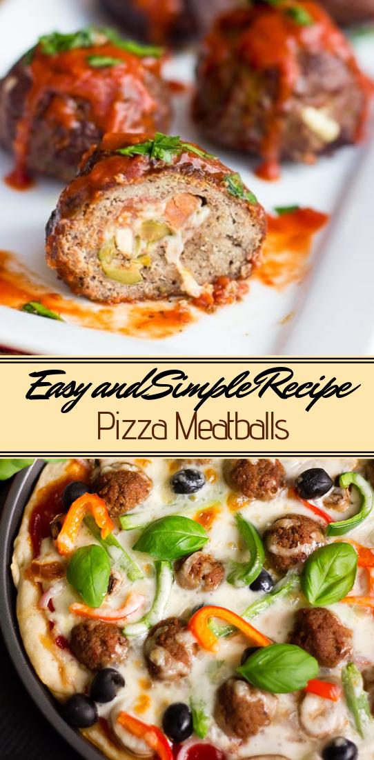 Pizza Meatballs #healthyfood #dietketo #breakfast #food