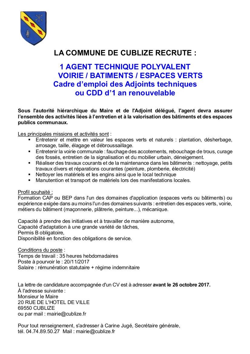 Chambost alli res offre d 39 emploi for Offre emploi entretien espaces verts