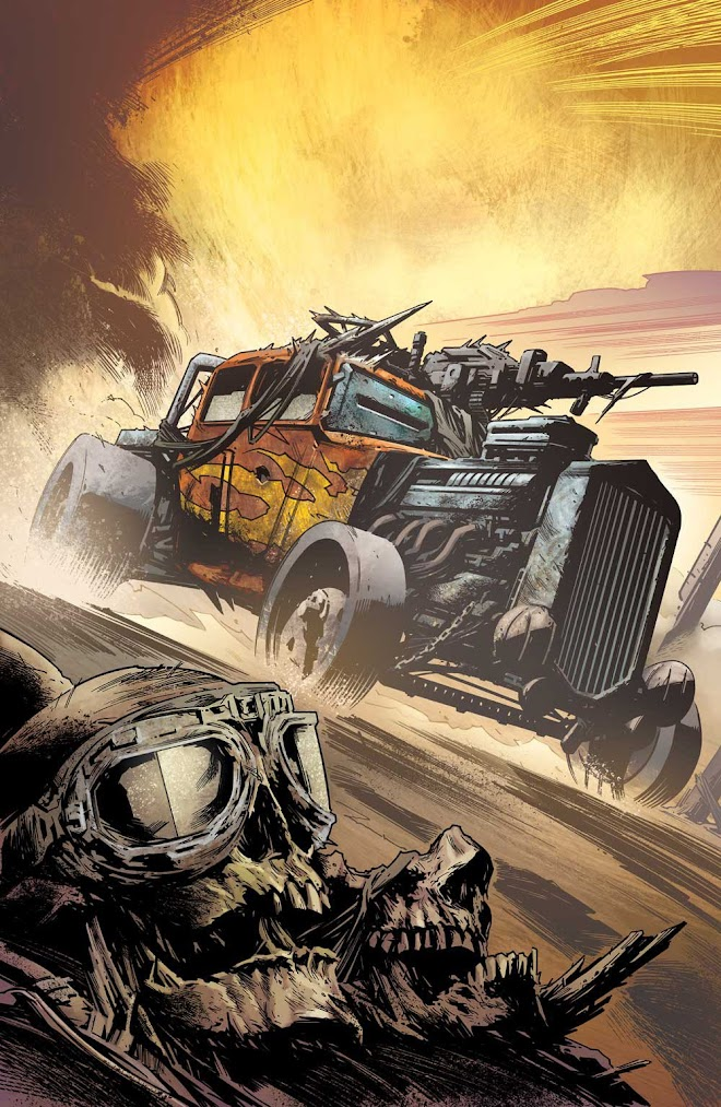 Hot Rod Technical - Freeway Fighter Comic - Art by Simon Coleby