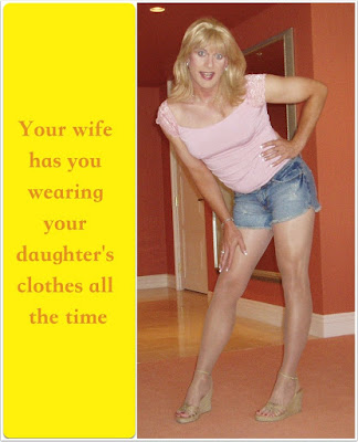 Wearing your daughter clothes all the time Sissy TG Caption - The Caption Site - Crossdressing and Sissy Tales and Captioned images