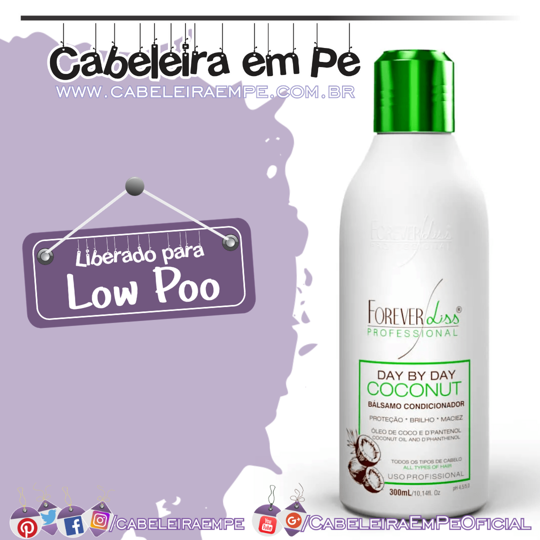 Bálsamo Condicionador Day By Day Coconut - Forever Liss (Low Poo)
