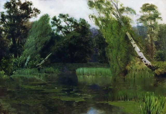 Исаак Ильич Левитан - В парке. 1880