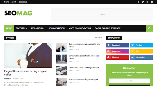 Top Premium Blogger Template