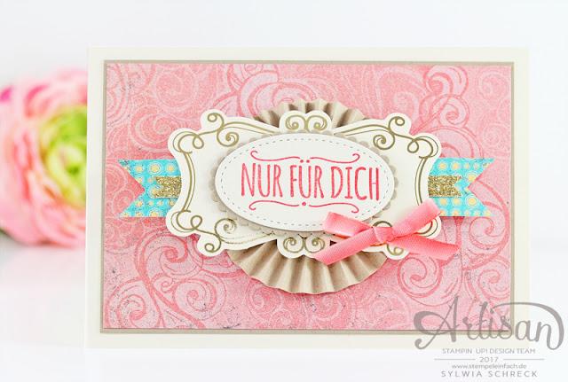 Karte mit Cupcakes und Karussells von Stampin Up