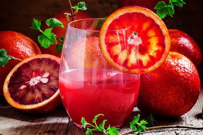 عصير البرتقال الأحمر