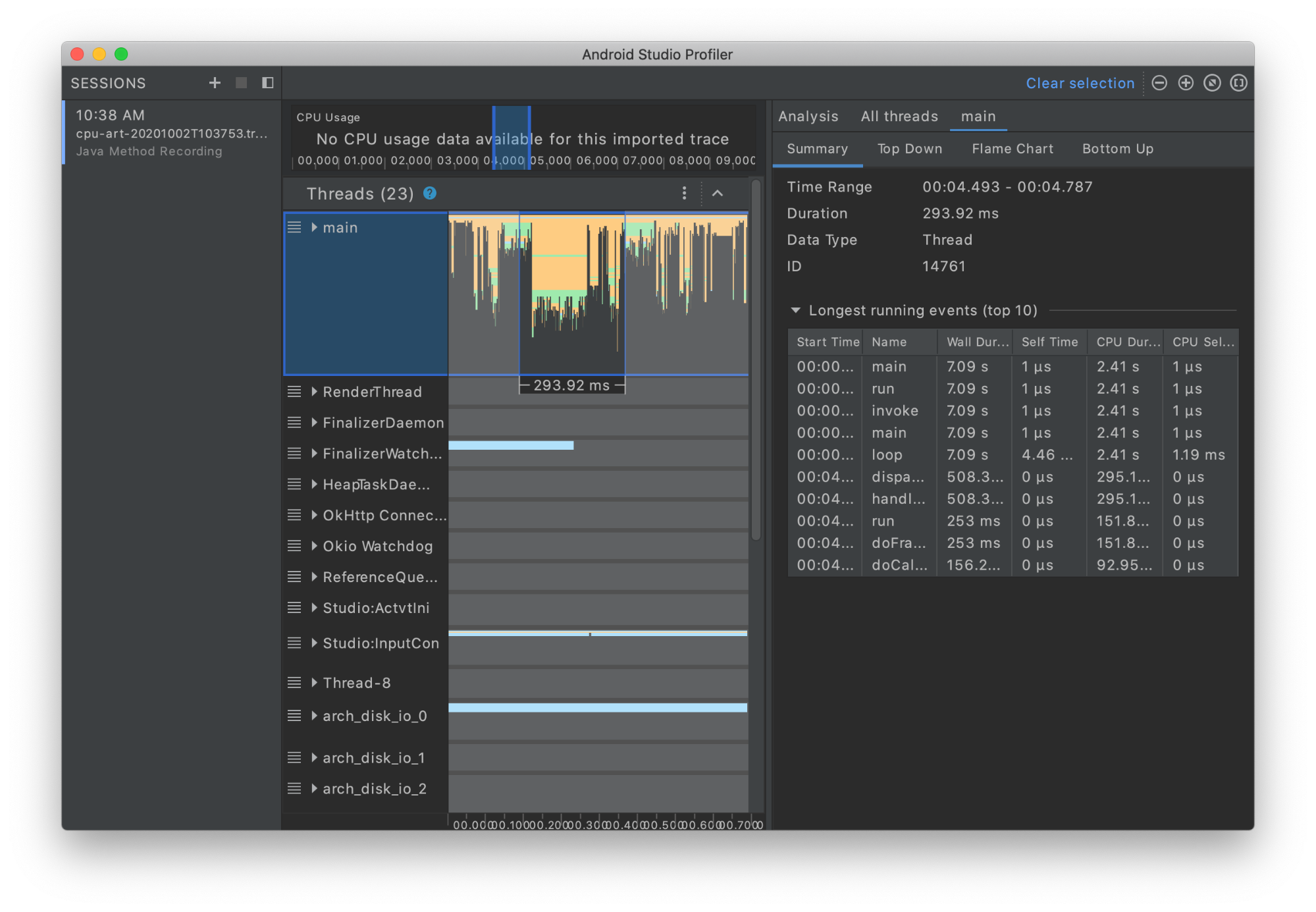 Standalone Android Studio profiler