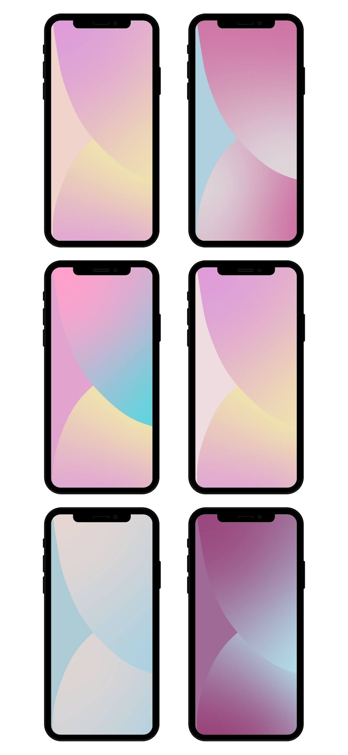 Iphone Ios 14 Aesthetic Pastel Wallpapers Wallpaperize Phone Wallpapers