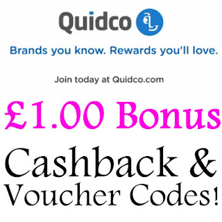 Quidco Sign Up Bonus March, April, May, June, July 2016