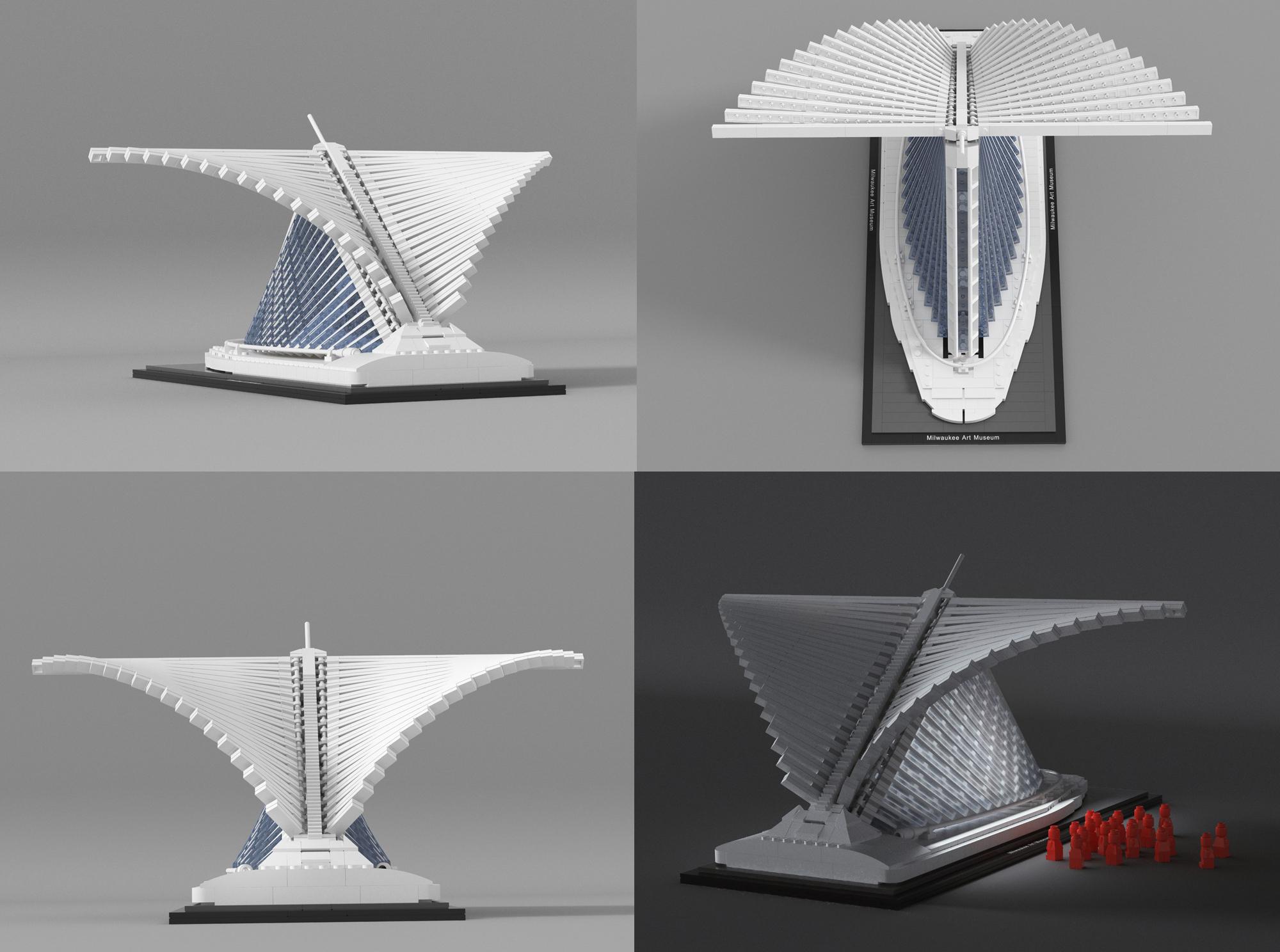 レゴアイデアで翼が動く『ミルウォーキー美術館』が製品化レビュー進出!2020年第3回1万サポート獲得デザイン紹介