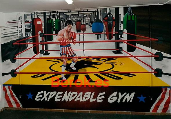 Graffiti gimnasio boxeo