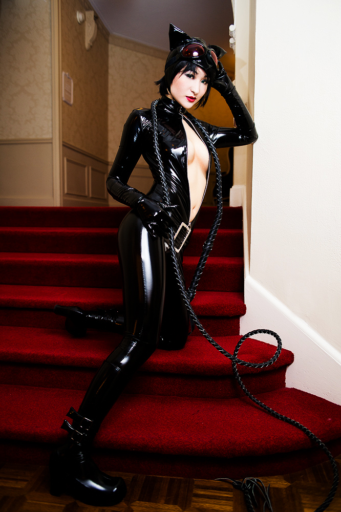 Horny catwoman