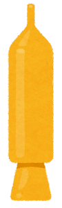 チョコペンのイラスト(黄色)