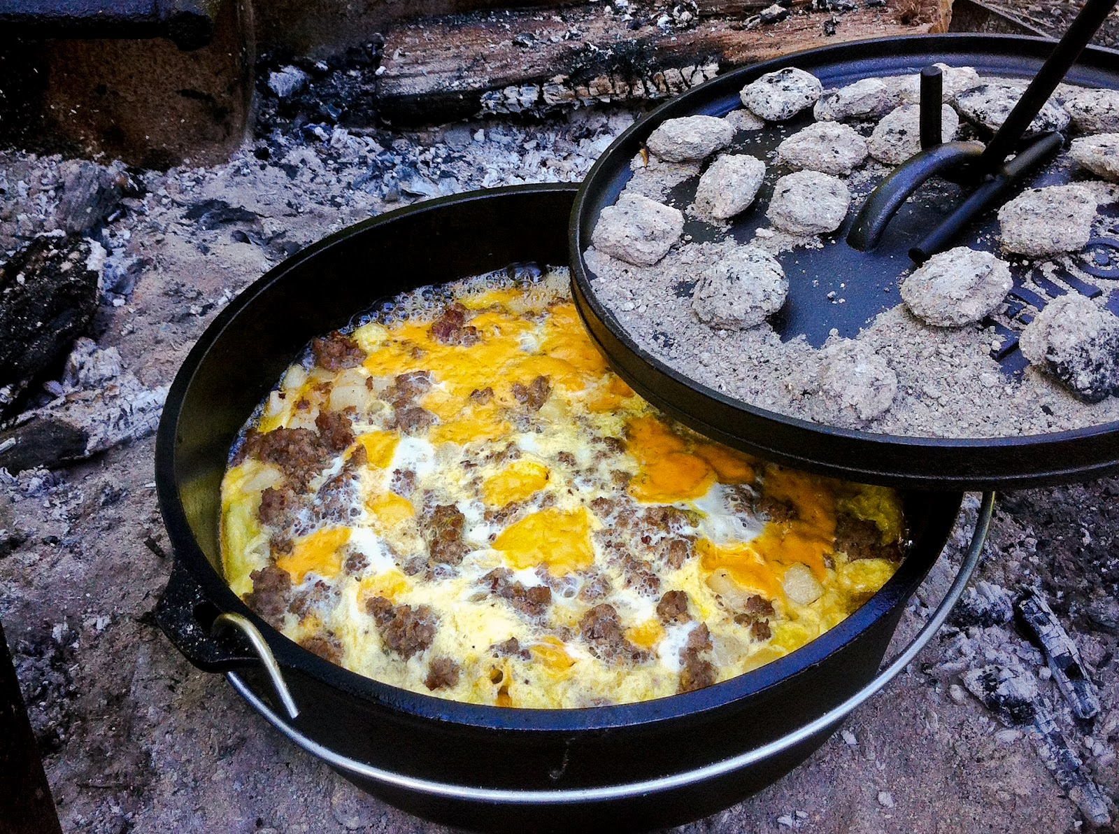 Shenandoah Camping Campfire Breakfast Saving Room For Dessert