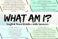 What am I? English Word Riddles with Answers