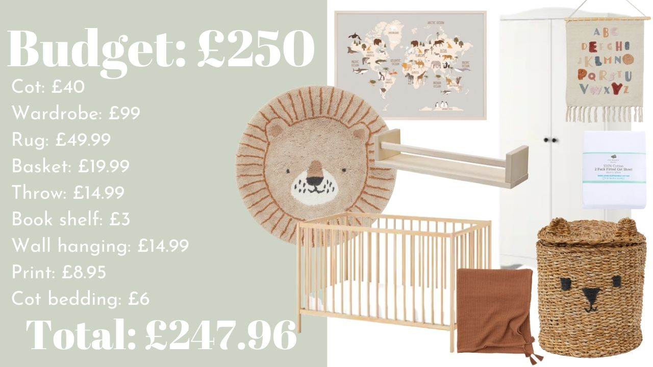 Inspiration for updating a baby nursery or children's bedroom on a tight budget. Decor and decorating tips and shopping inspiration. Home decor budget