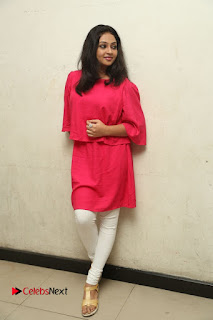 Actress Arundathi Nair Stills in Red Chididar at Bethaludu Success Meet  0125.JPG