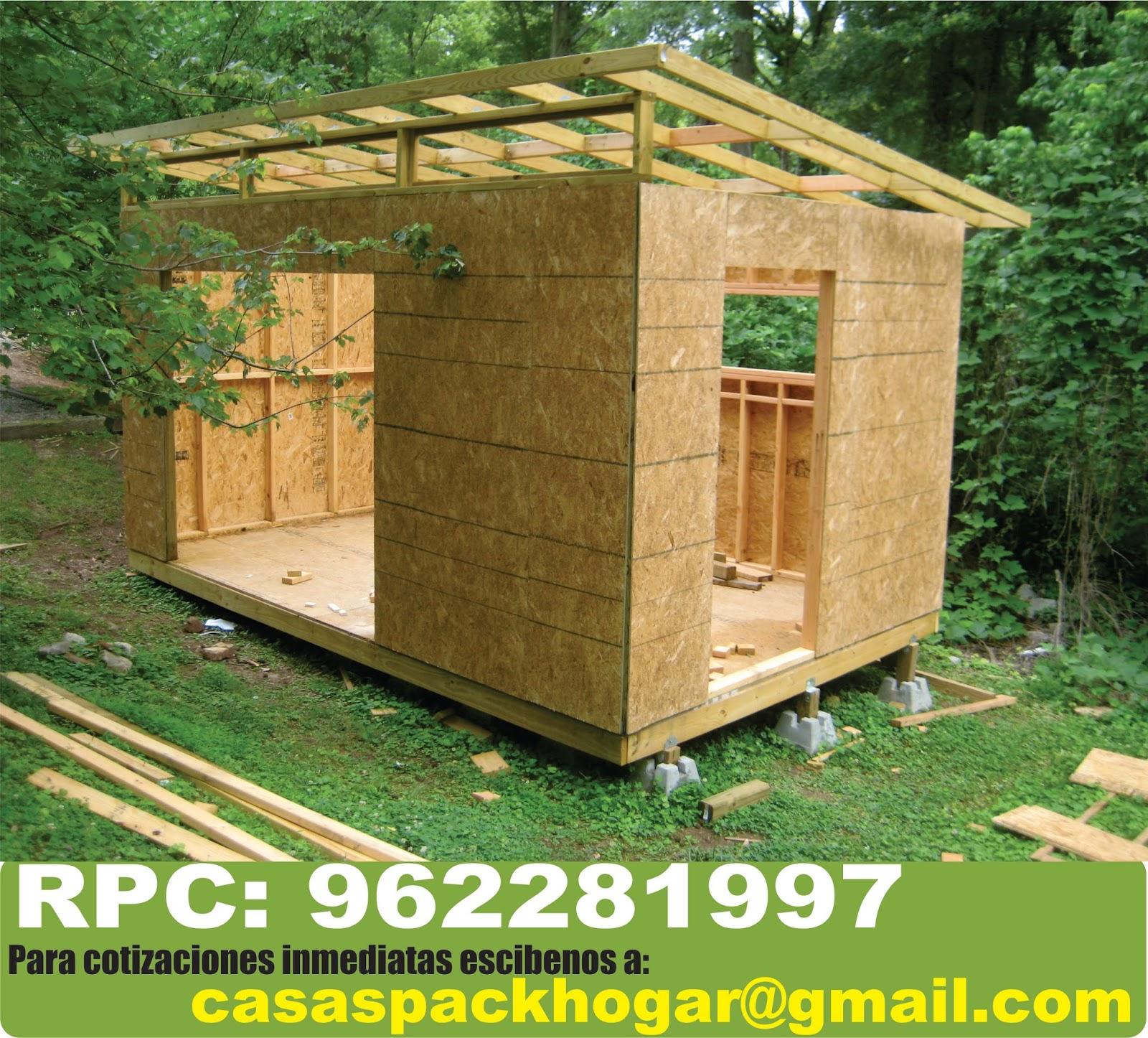 Casetas prefabricadas de madera para oficina packhogar for Casetas prefabricadas para jardin
