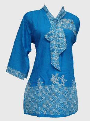 model baju batik kantor lengan panjang Masa kini