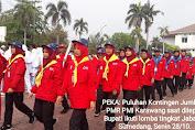 """Kontingen Jumbara PMR PMI Karawang di Lepas Bupati Ke """"Gajah Depa"""""""