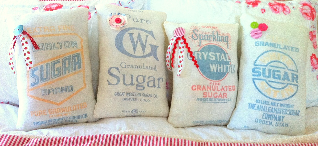 A Sort Of Fairytale: Vintage Feed Sack Pillows and a Giveaway