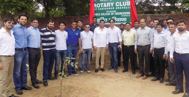 rotary-club-aravally-pantation-ymca-university-faridabad