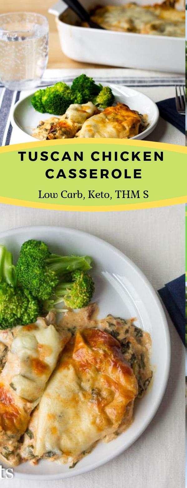 TUSCAN CHICKEN CASSEROLE RECIPE LOW CARB KETO THM #KETO #CHICKEN #CASSEROLE #DINNER