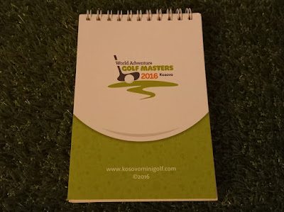 Notebook from the World Adventure Golf Masters 2016 at Prishtina Pro Mini Golf in Kosovo