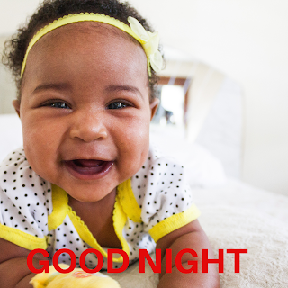 Good night cute baby photos, good night baby image