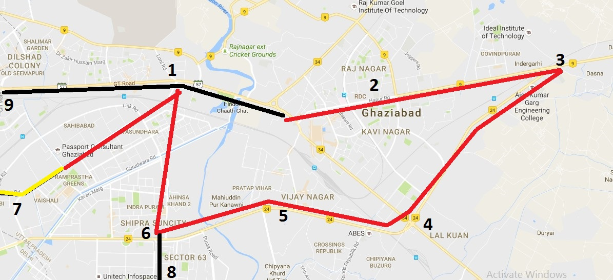 Ghaziabad Metro Plan Present Future Working Under - Ghaziabad map