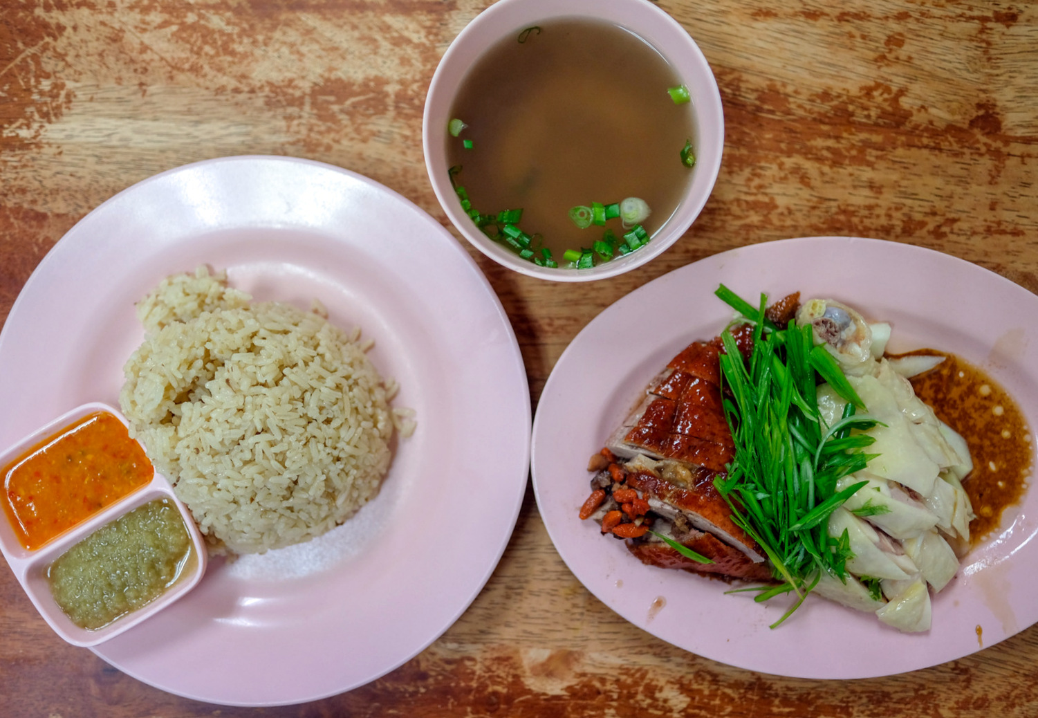grandmother chicken rice, pandan jaya