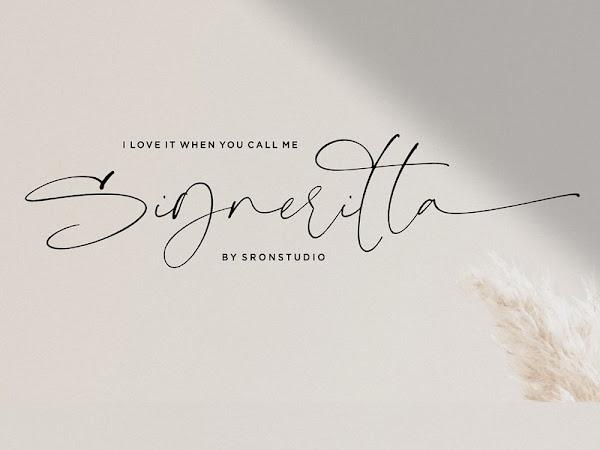 Signeritta - Elegant Signature Font