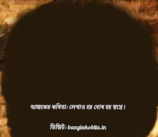 বাংলা কবিতা লেখাও হয় বোধ হয় স্বপ্নে