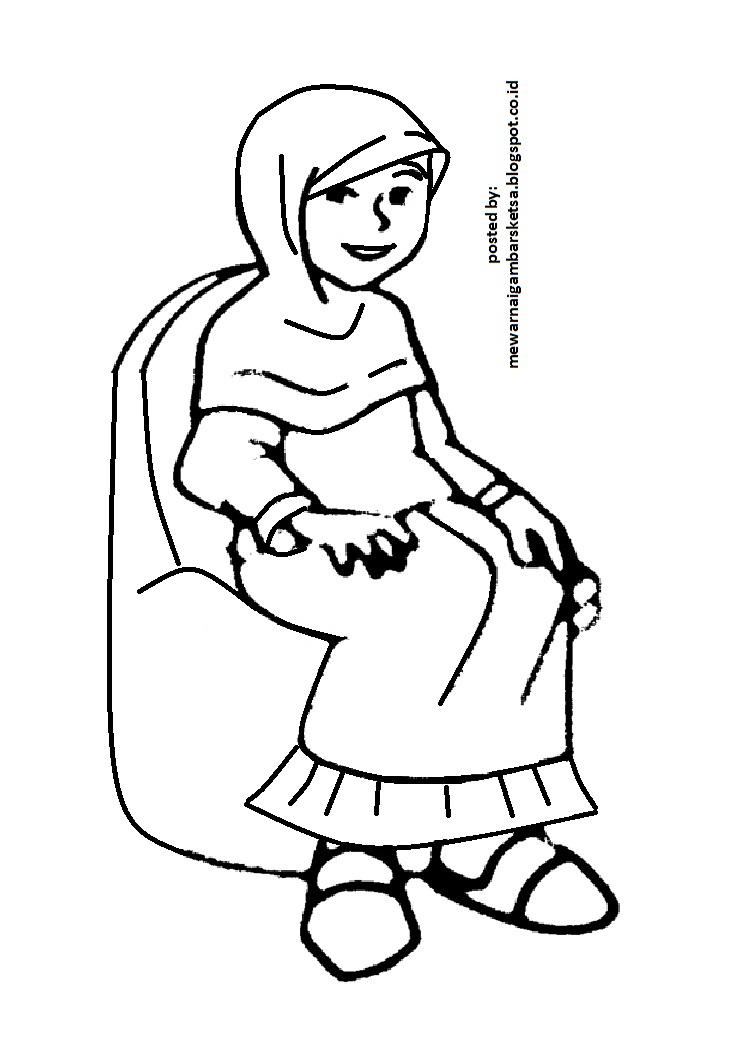 Mewarnai Gambar: Mewarnai Gambar Ibu Menggendong Adik