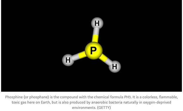 "Phosphine is a simple four atom molecule (Source: Ethan Siegel, ""It Starts with a Bang"")"