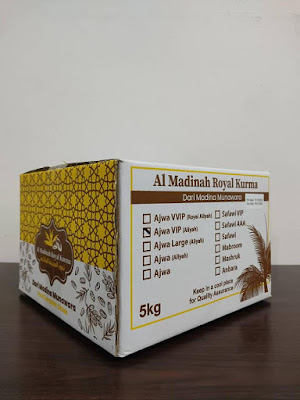 Kurma Ajwa Aliyah VIP yang dijual 5KG sekotak