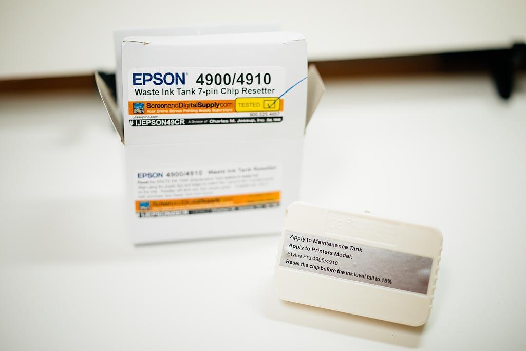 mike henasey + photography: Epson 4900 Maintenance Tank Chip
