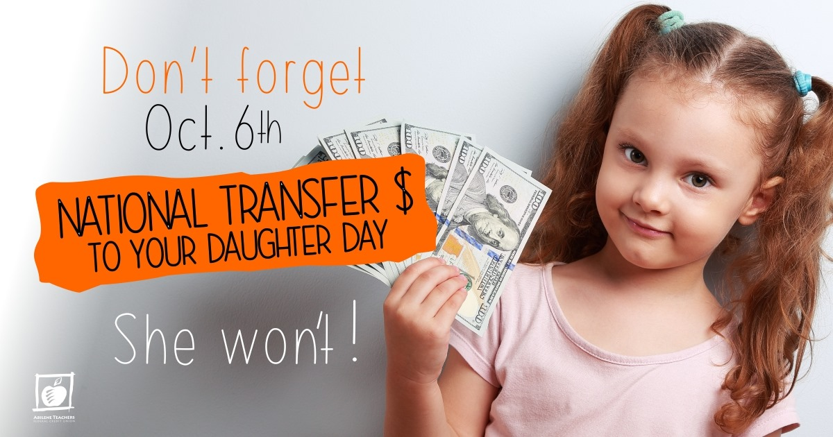 National Transfer Money to Your Daughter Day Wishes Photos