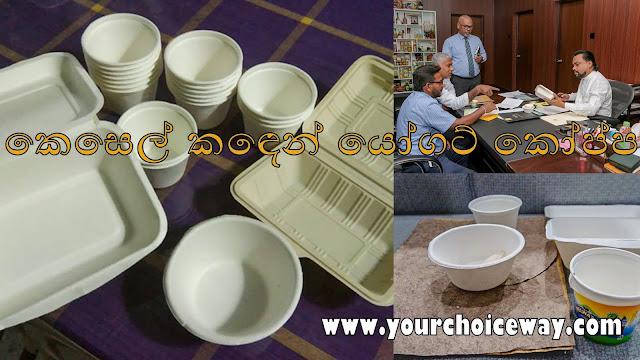 කෙසෙල් කඳෙන් යෝගට් කෝප්ප (Cups Of Yogurt From A Banana Stem)