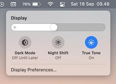 Pengaturan layar macbook dari menu bar