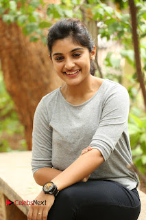Actress Niveda Thomas Pictures in Black Jeans at Gentleman Movie Interview  0085