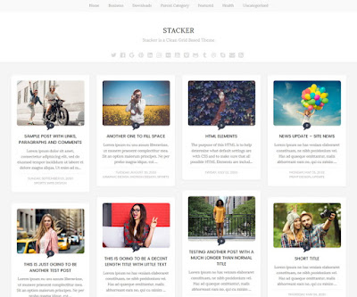 Stacker Blogger Template Free Download