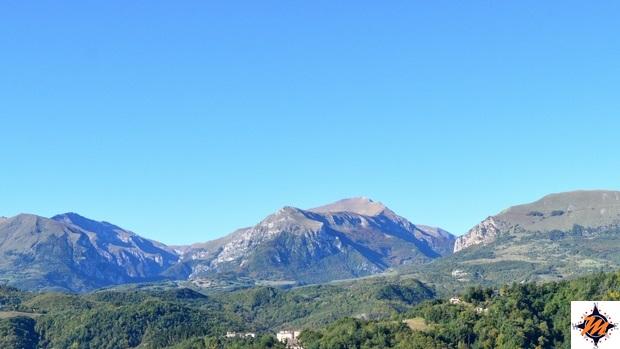 I Monti Sibillini visti dall'Hotel Paradiso di Amandola