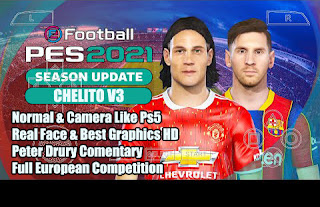 Download PES 2021 PPSSPP Chelito V3 Update Camera PS5 Latest Transfer & Real Best Graphics