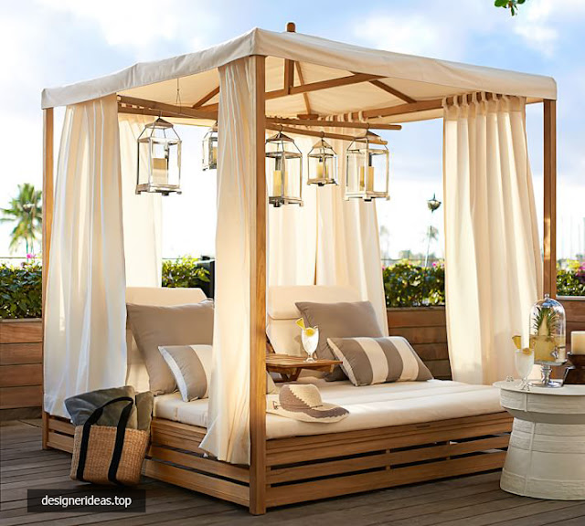 7 Designs of Outdoor Canopy Daybed for the Convenience of Relaxation