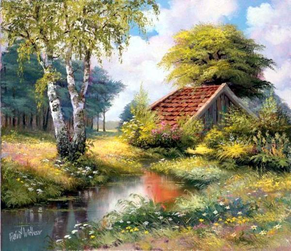 Lukisan Alam Pedesaan Yang Menyejukan Mata Dan Hati